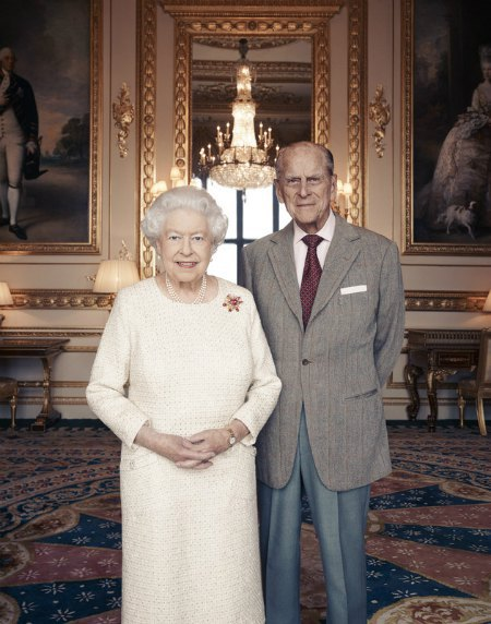 Новый официальный портрет королевы Елизаветы II и принца Филиппа