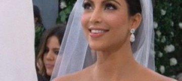 Ким Кардашян и Крис Хамфрис за мгновение до обмена клятвами
