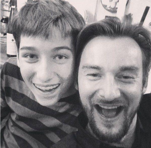 Бадоев с сыном Борисом