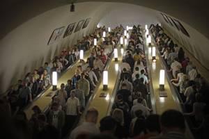 В московском метро включили звуки вьюги