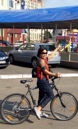 Гайтана берет с собой в Баку велосипед