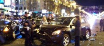 В Bentley, протаранившем восемь авто на Крещатике, сидела дочка Джарты