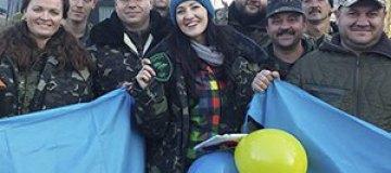 Соломия Витвицкая побывала в зоне АТО