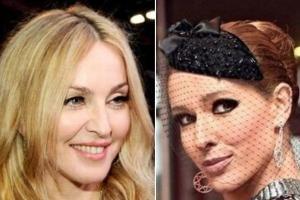Осадчая подарила Мадонне украинский платок