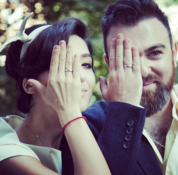 Анна Завальская с мужем