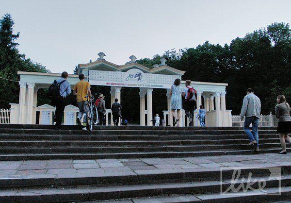 Вход в парк им.Богдана Хмельницкого