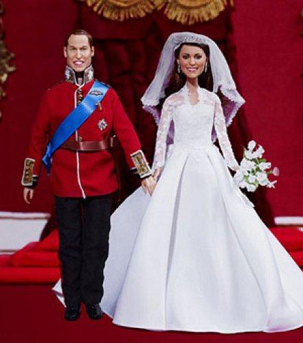 Куклы принца Уильяма и Кейт Миддлтон