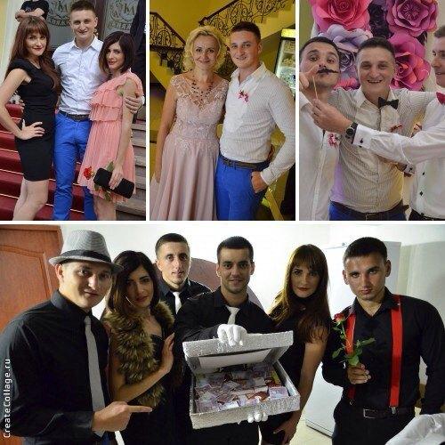 На фото со свадьбы, которыми поделились в соцсети друзья молодоженов, есть и сама знаменитая Фарион (вверху в центре)