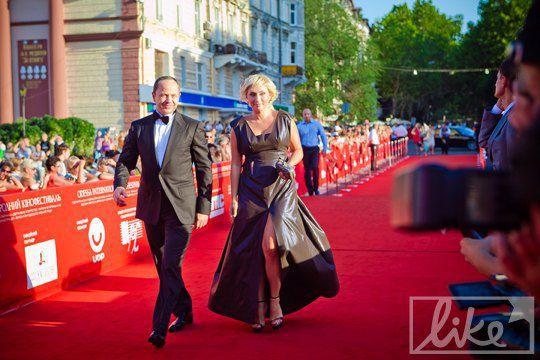 Вице-премьер-министр Украины Сергей Тигипко и президент международного Одесского кинофестиваля Виктория Тигипко
