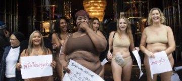 В Лондоне женщины в нижнем белье устроили акцию против бренда Victoria's Secret