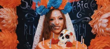 """Дочь Поляковой в образе """"Мертвой принцессы"""" отпраздновала 14-летие"""