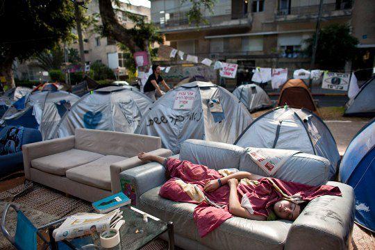 Израиль. Митинг против повышения цен на недвижимость