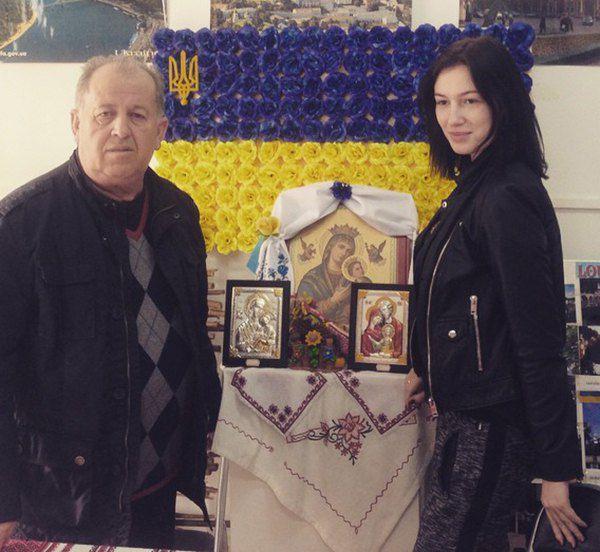 Анастасия Приходько с президентом украинской диаспоры в Испании