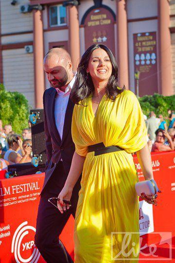 Маша с супругом на Одесском международном кинофестивале