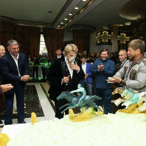 Кадыров принимает дорогого друга Баскова