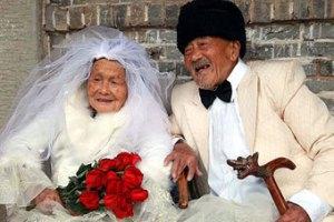Китайская пара устроила свадебный фотосет после 88 лет брака