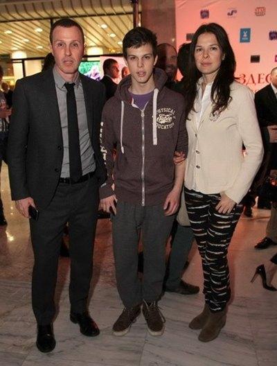 Игорь Верник с бывшей женой Марией и сыном Григорием