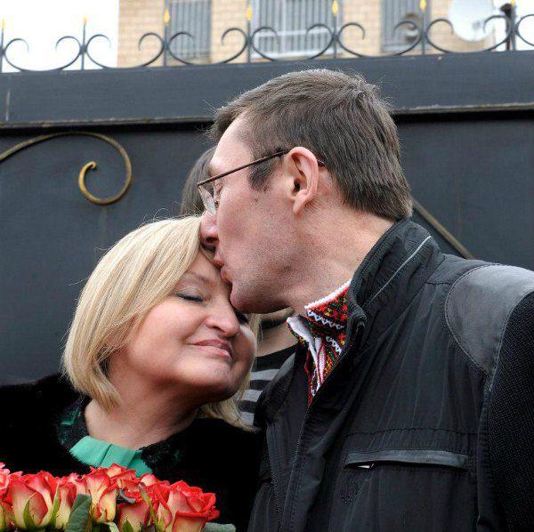 Ирина и Юрий Луценко после тюремного заключения политика в период президентства Януковича