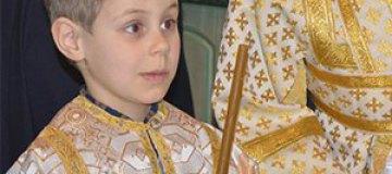 Сын Тины Кароль стал пономарем
