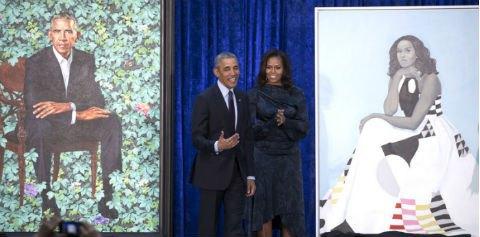 Барака и Мишель Обам нарисовали