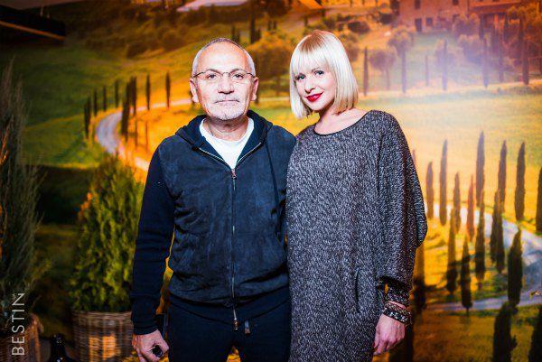 Савик Шустер и Алена Орехова на презентации бутика Via Del Corso 88