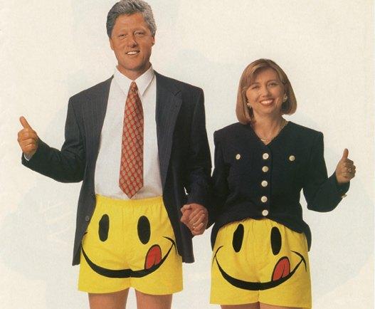 Билл и Хиллари Клинтон в трусах Joe Boxer