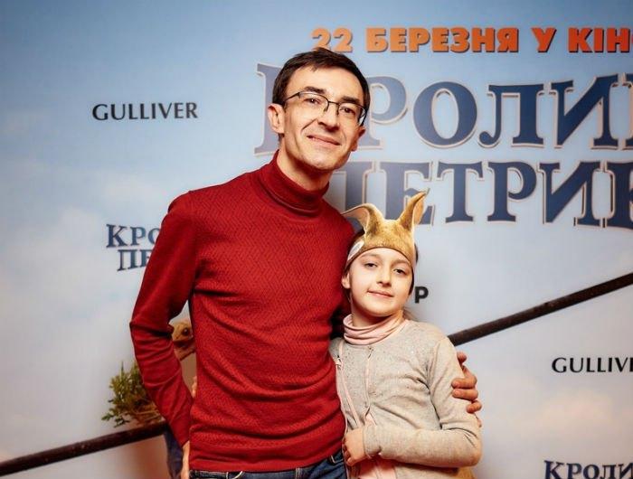 Олег Панюта с дочкой