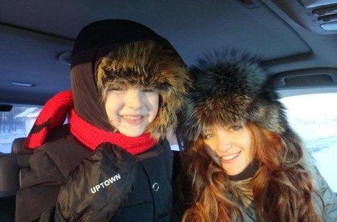 Виктория Мартынюк с сыном Сашей
