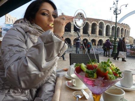 А потом отдыхала в итальянских городах