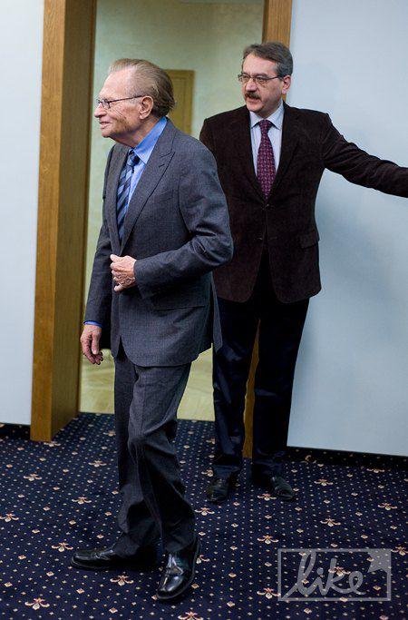 Ларри Кинг в Кабинете Министров Украины