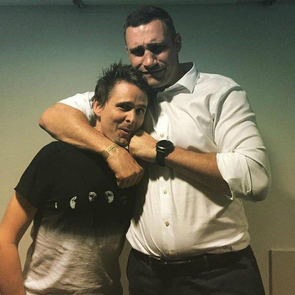 Мэттью Бэллами и Виталий Кличко