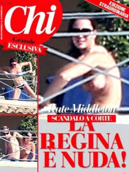 Журнал Берлускони пошел дальше французских изданий в откровенных фото герцогини