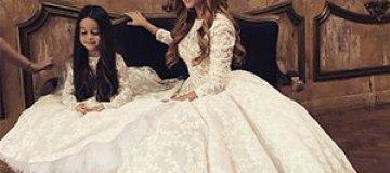 Ксения Бородина надела свадебное платье