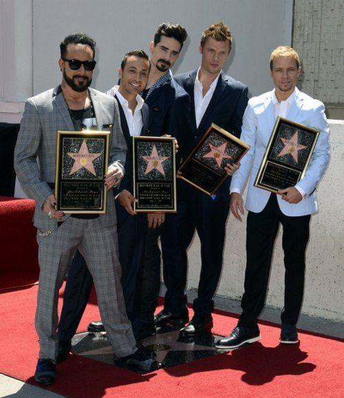 Backstreet Boys получили свою звезду на Аллее Славы