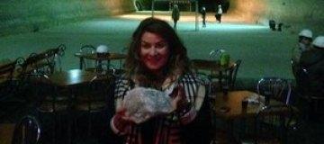 Жанна Бадоева спустилась под землю