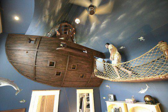 Детская комната для маленького пирата. Дизайнер Стив Кухл