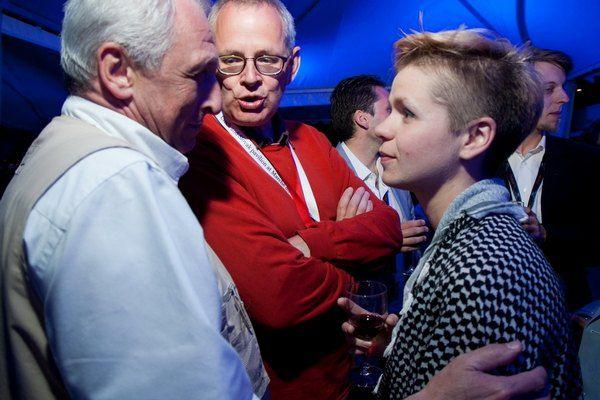 Программный директор ОМКФ Алик Шпилюк (по центру) и сценарист Анна Казьмина