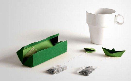 Чай tPod. С ярлычком в форме кораблика нить вашего чайного пакетика не придется вылавливать со дна чашки