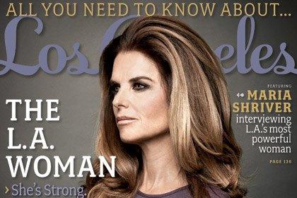 Обложка Los Angeles magazine с интервью авторства Марии Шрайвер
