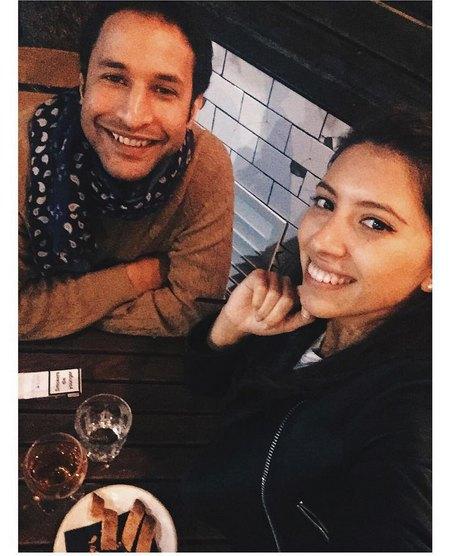 Инга с будущим мужем