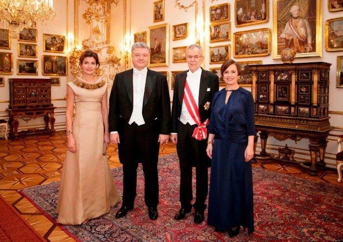 Две президентских четы: Марина и Петр Порошенко, Александер Ван дер Беллен и Дорис Шмидауэр