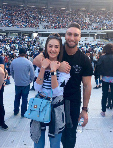 Иракли и Алена на концерте Робби Уильямса в Тбилиси 27 мая