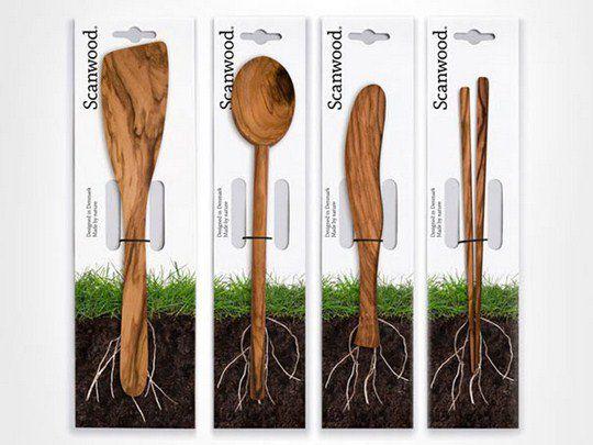 Кухонные приборы Scanwood из натурального дерева
