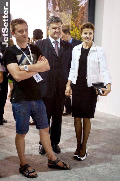 Министр экономического развития и торговли Украины Петр Порошенко с супругой Мариной