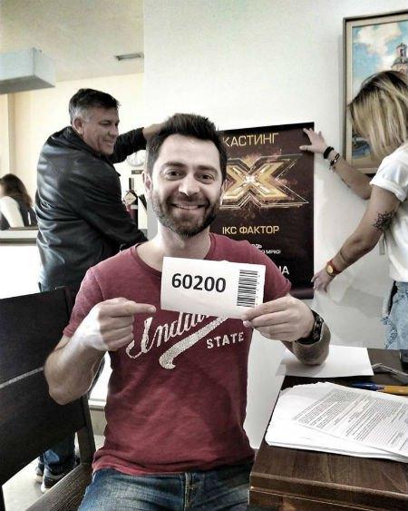 """Сергей Калинин на кастинге """"Х-Фактора"""" в Виннице."""