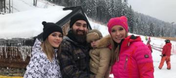 Катя Осадчая с The Hardkiss на зимних развлечениях в Буковеле