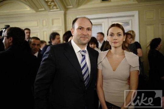 Депутат Киевсовета Лев Парцхаладзе с супругой Лесей