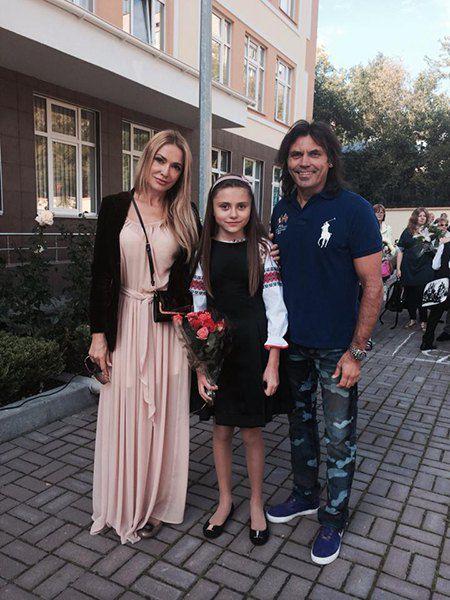 Ольга Сумская с мужем и дочерью