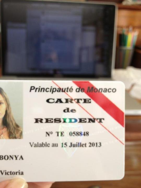 Виктория Боня получила вид на жительство в Монако