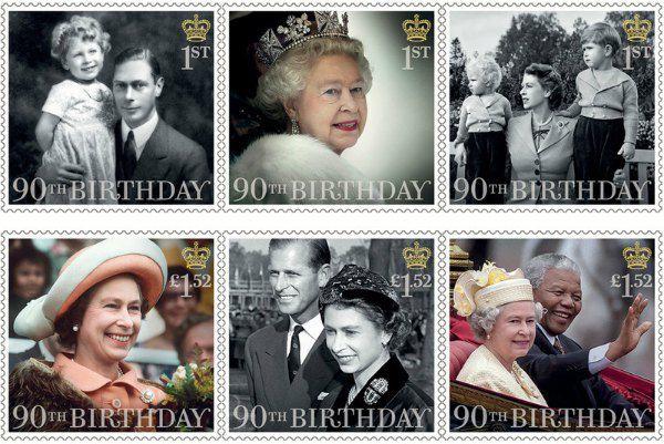Юбилейная марка с вехами жизни королевы